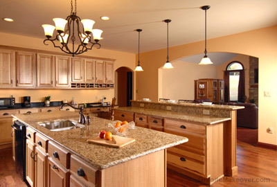 country granite countertops kitchen