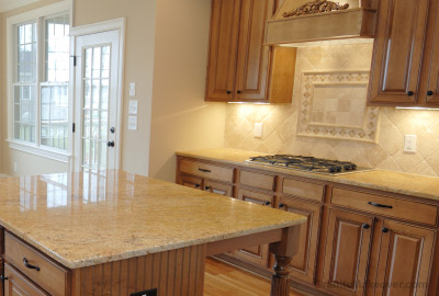 granite countertops with travertine